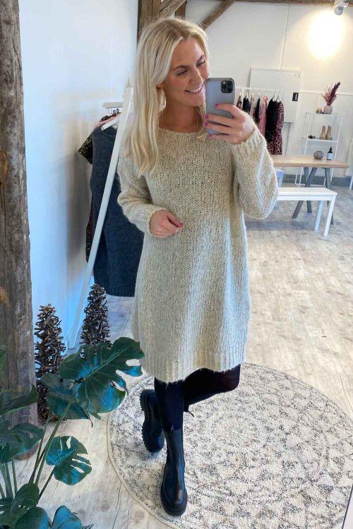 Noella Kjole Kala Knit Dress Beige Hover