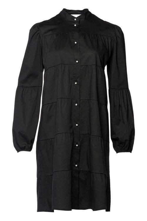 Noella - Kjole - Kiki Pearl Dress Poplin - Black