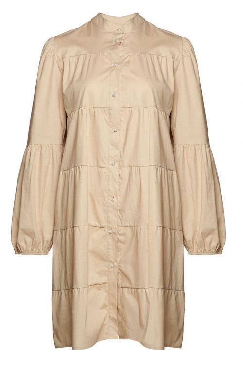 Noella - Kjole - Kiki Pearl Dress Poplin - Camel