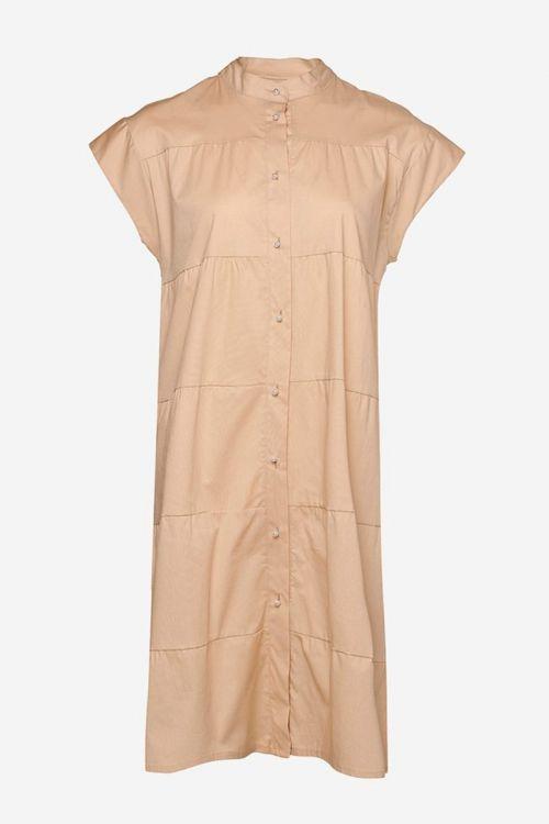 Noella - Kjole - Kiki ss Pearl Dress Cotton Poplin - Beige