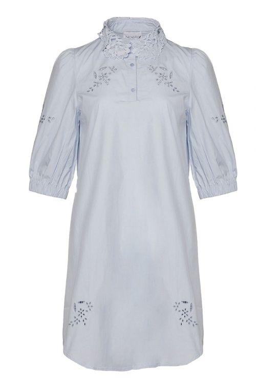 Noella - Kjole - Lucille Dress Cotton - Lightblue