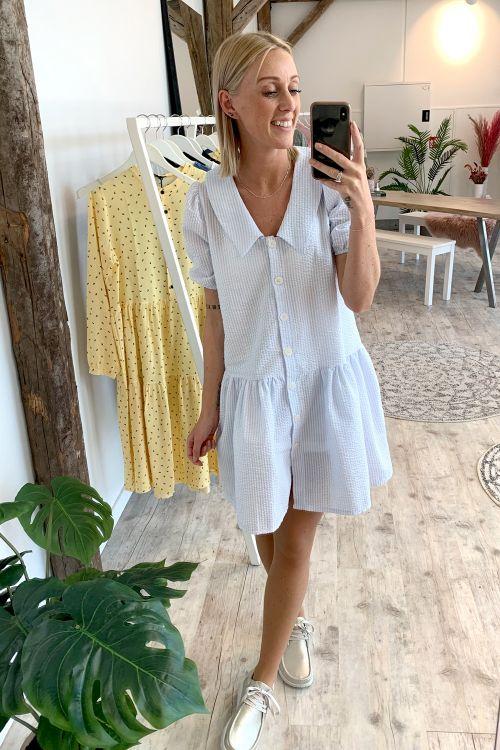 Noella Kjole Melina Dress Blue/White Front