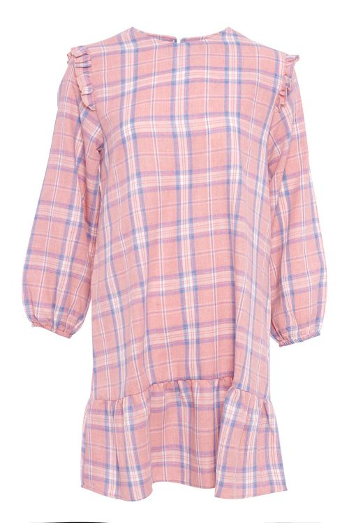 Noella Kjole Raven Dress Pink/Blue Checks Front