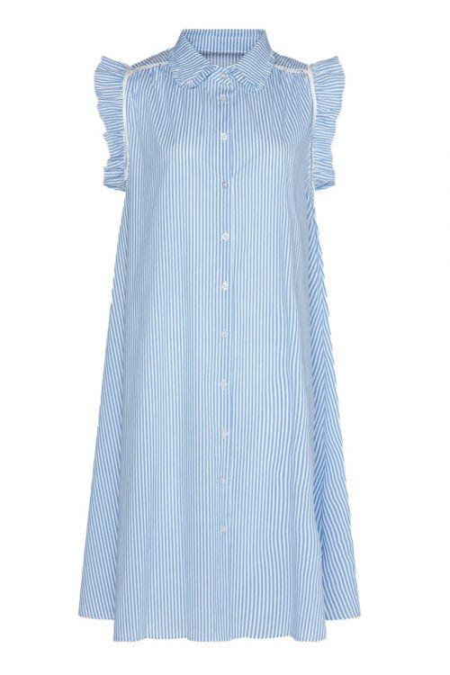 Noella - Kjole - Senza Dress Cotton Poplin - Blue/White Stripe
