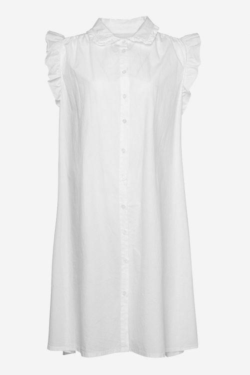 Noella Kjole Senza Dress Cotton Poplin White Front