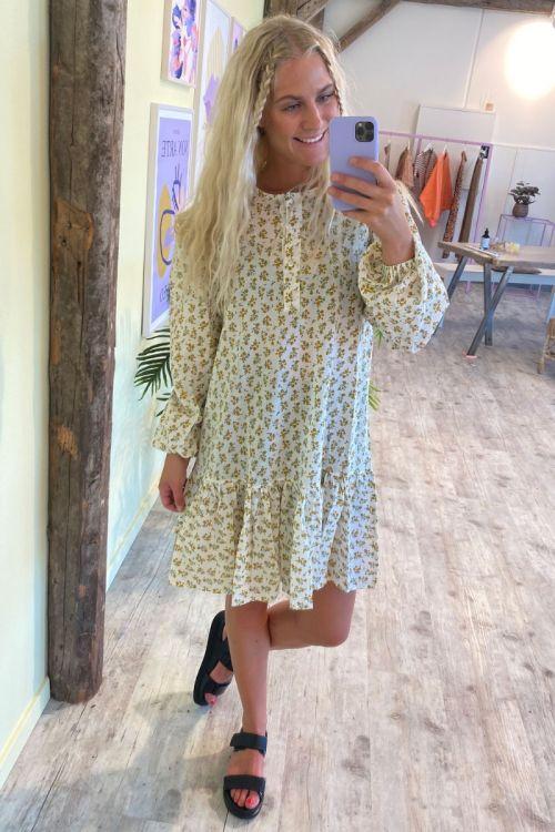 Noella - Kjole - Taven Dress Seersucker - Yellow/cream