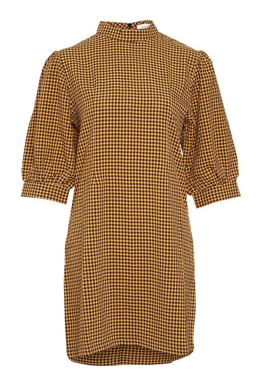 Noella Kjole Vix Dress Camel/Black Check Front