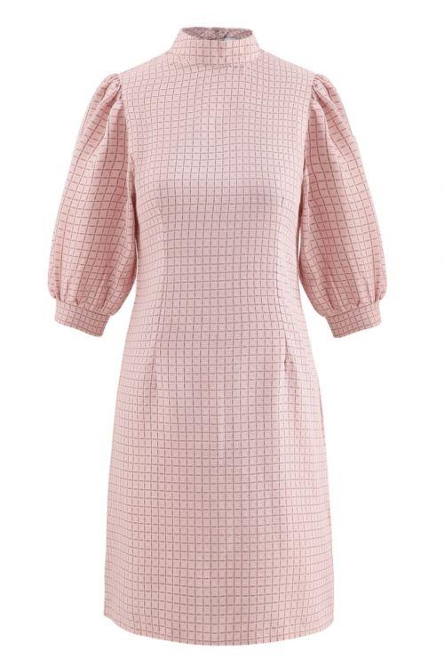 Noella Kjole Vix Dress Rose check Front