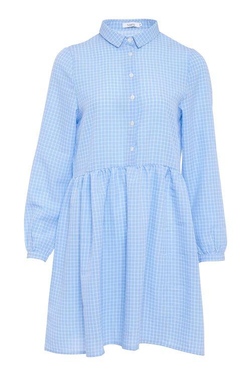 Noella Kjole Vora Dress Blue/White Checks Front
