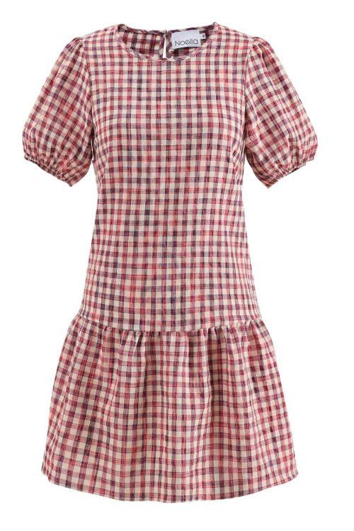 Noella - Kjole - Zia Dress - Neon Pink Check