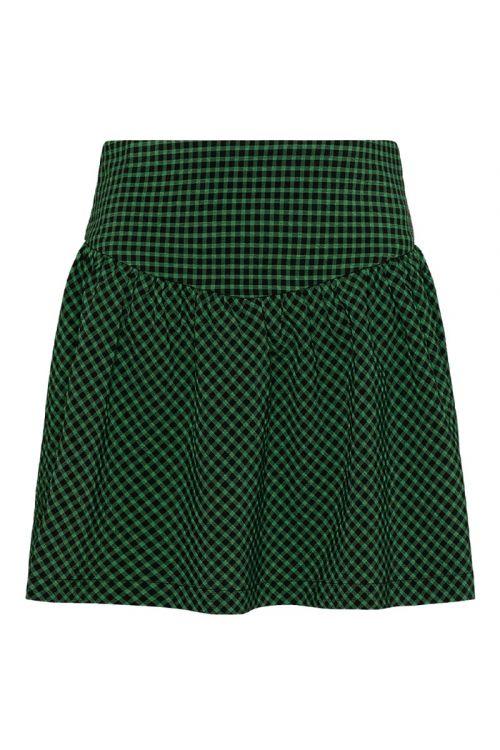 Noella Nederdel Harriet Skirt Black/Green Check Front