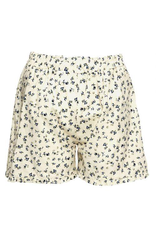 Noella - Shorts - Zar Shorts Cotton Poplin - Blue/Cream Flower