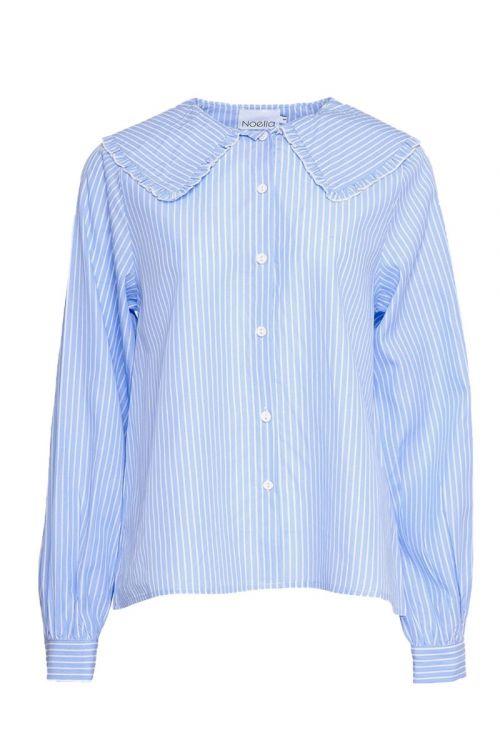 Noella Skjorte Abby Shirt Cotton Blue Stripe Front