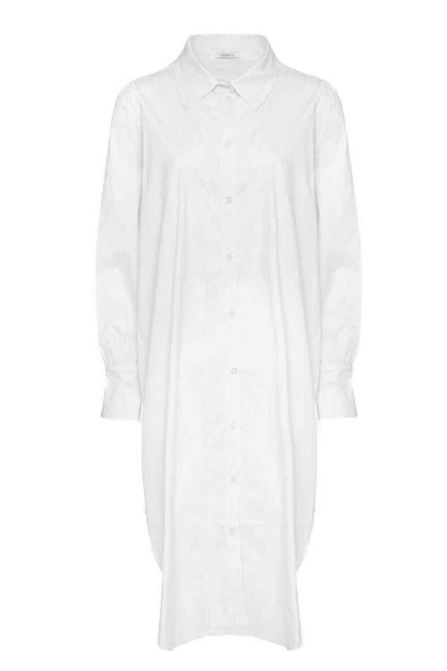 Noella - Skjorte - Celine Long Shirt Poplin - White