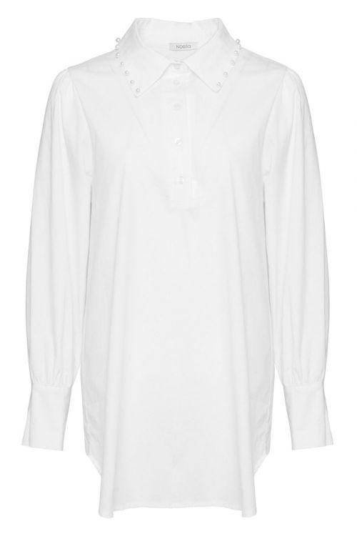 Noella - Skjorte - Celine Pearl Shirt - Poplin White