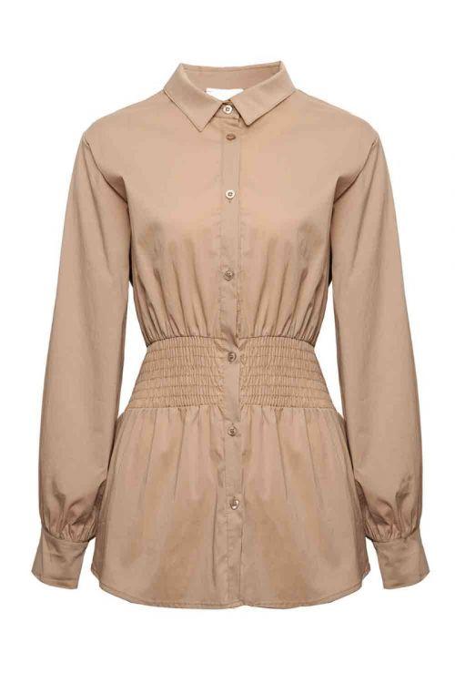 Noella - Skjorte - Day Shirt Cotton Poplin - Camel