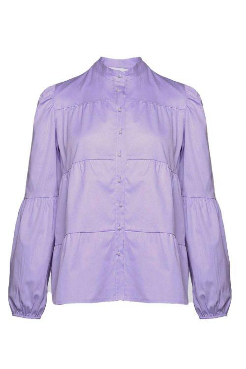 Noella - Skjorte - Kiki Pearl Shirt Poplin - Lavender