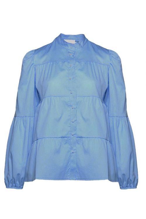 Noella - Skjorte - Kiki Pearl Shirt Poplin - Light Blue