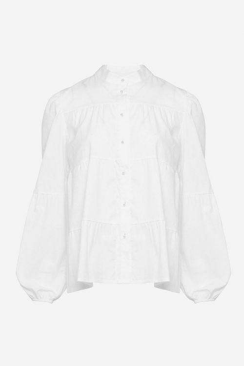 Noella - Skjorte - Kiki Pearl Shirt Poplin - White