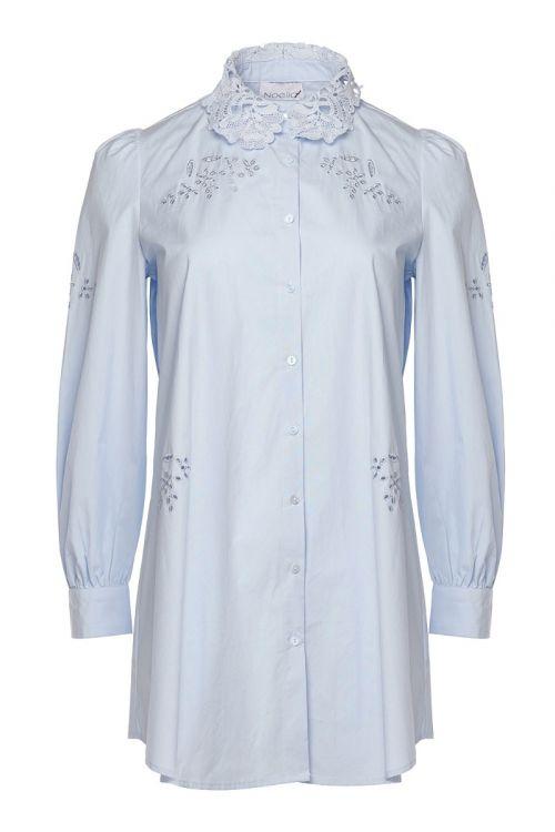 Noella - Skjorte - Lucille Long Shirt - Light Blue