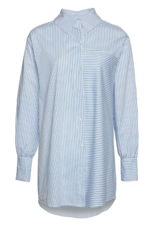 Noella - Skjorte - Shelly Shirt Cotton Poplin - Lightblue / Blue Stripes