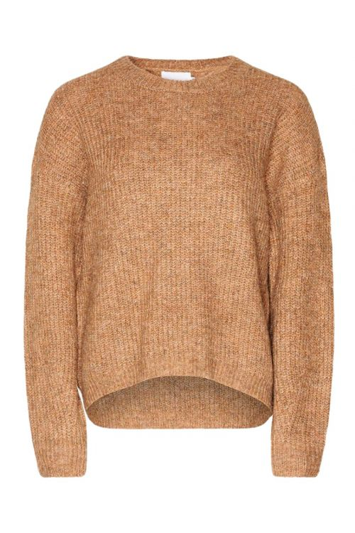 Noella - Strik - Frenchie Knit Sweater - Camel Melange