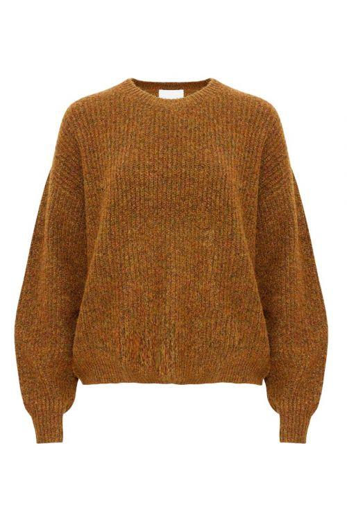 Noella - Strik - Frenchie Knit Sweater - Army Melange