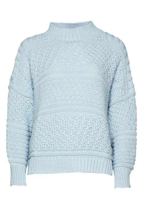 Noella - Strik - Tally Knit Sweater - Lightblue