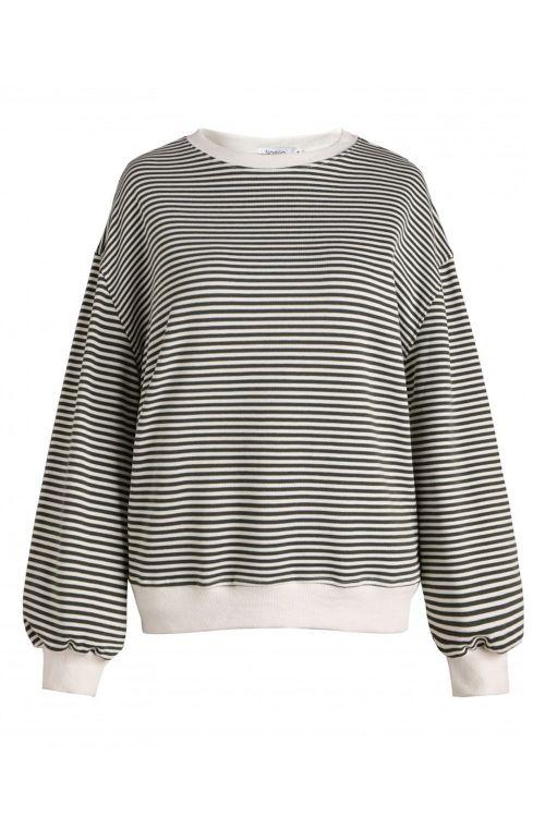 Noella Sweat Tatum Sweatshirt Army/White Stripe Front