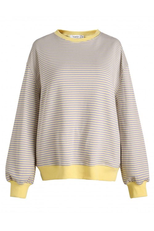 Noella Sweatshirt Tatum Sweatshirt Yellow/Purple Stripes Front