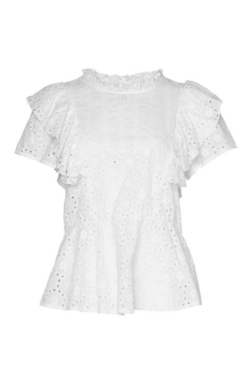 Noella Top Leif Top Cotton White Front