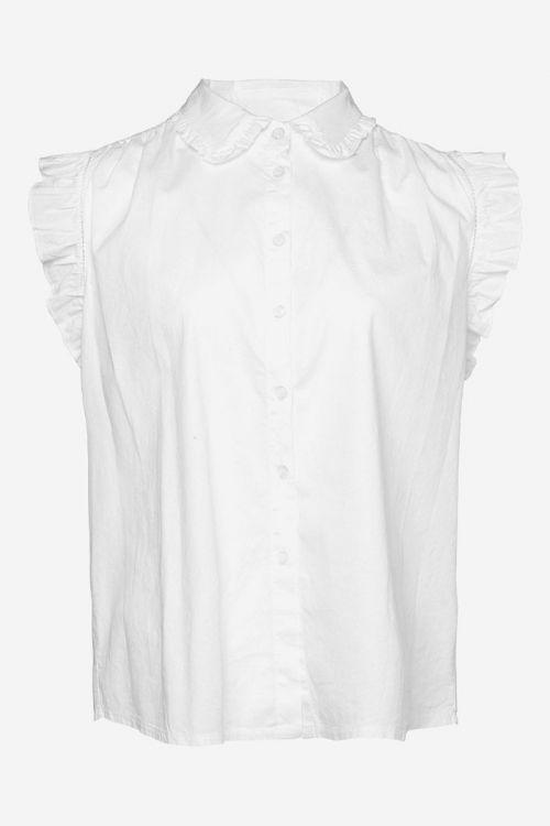 Noella - Top - Senza Top Cotton Poplin - White