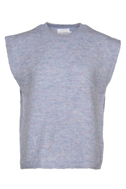 Noella - Vest - Frenchie Knit Vest - Blue Melange
