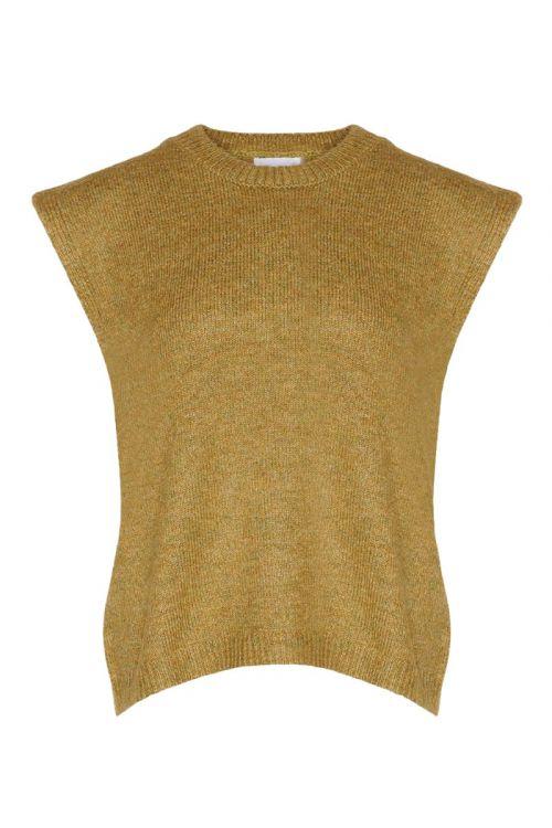 Noella - Vest - Frenchie Knit Vest - Mustard Melange