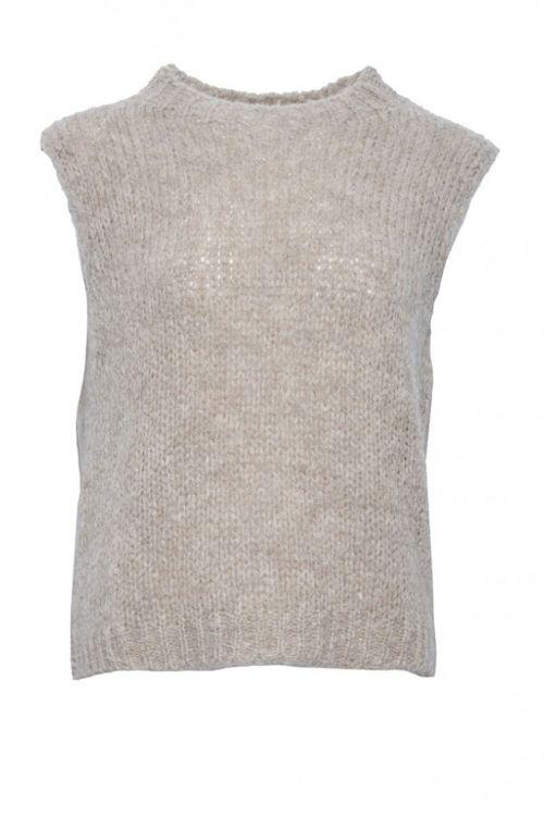 Noella Vest Kala Knit Vest Sand Front