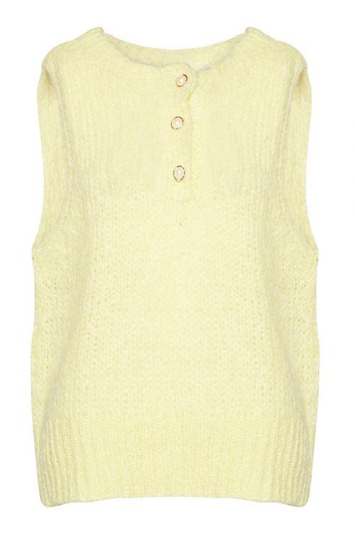 Noella - Vest - Kala Vest Pearl Slipover - Pale Yellow