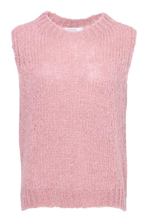 Noella Vest Kala Vest Wool Old Rose Front