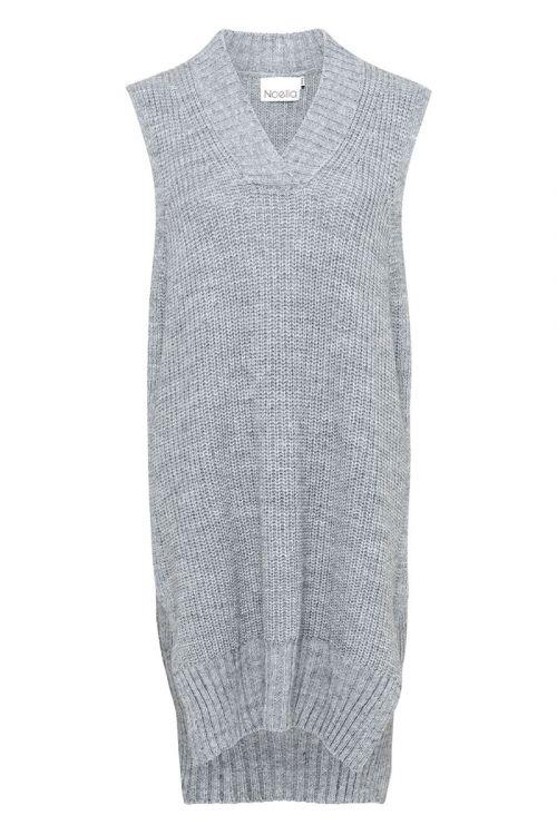 Noella - Vest - Louis Slipover V-neck - Light Grey Melange