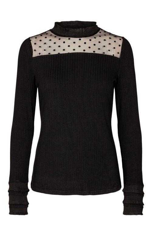 Nümph Bluse Butterfly T-shirt Caviar Front