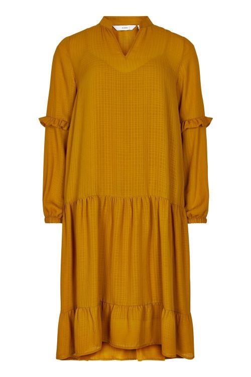 Nümph Kjole Bardot Dress Buck Brown Front