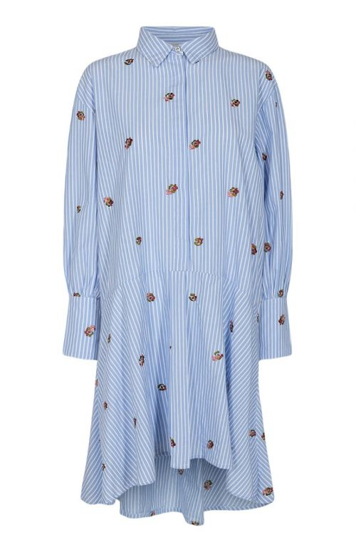 Nümph - Kjole - Dahlia Dress - Blue Stripe