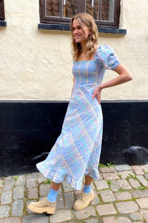Nümph Kjole Nuchecky Dress Vista Blue Hover