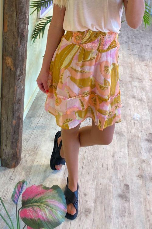Nümph Nederdel Nucamden Skirt Peach Skin Hover