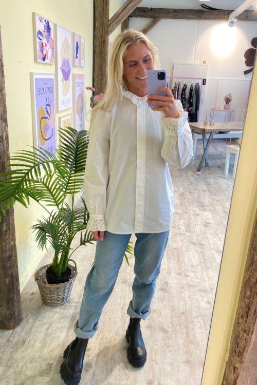 Nümph - Skjorte - Barbara Shirt - Bright White