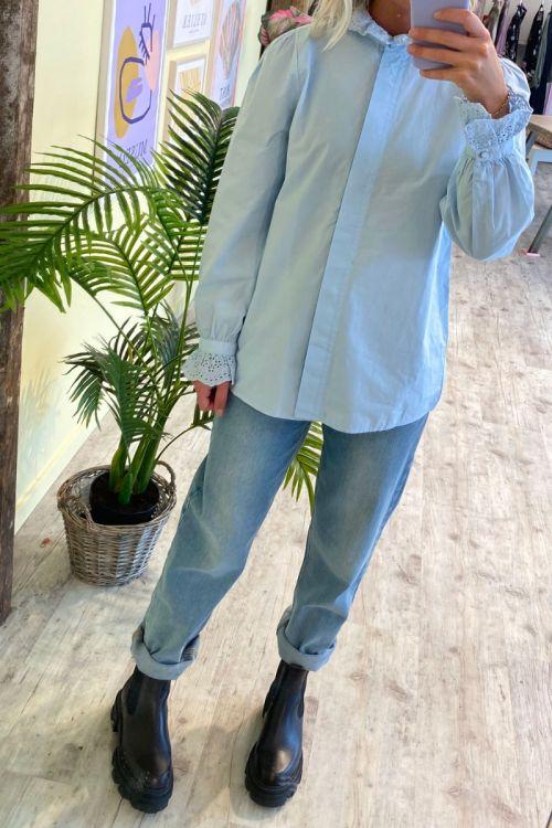 Nümph - Skjorte - Barbara Shirt - Cashmere Blue