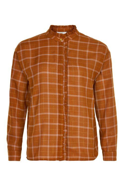 Nümph Skjorte Bethesda Shirt Leather Brown Front