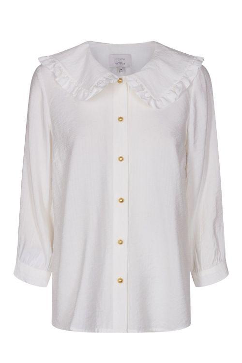 Nümph Skjorte Bianca Collar Shirt Pistine Front
