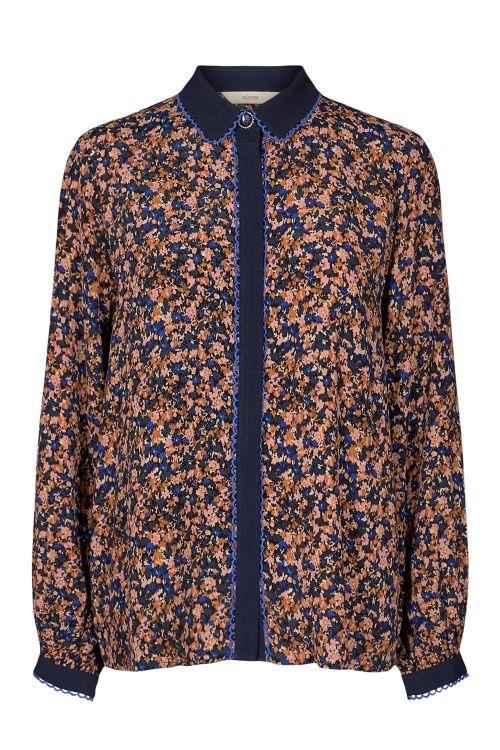 Nümph Skjorte Brynna Shirt Dazzling Blue Front