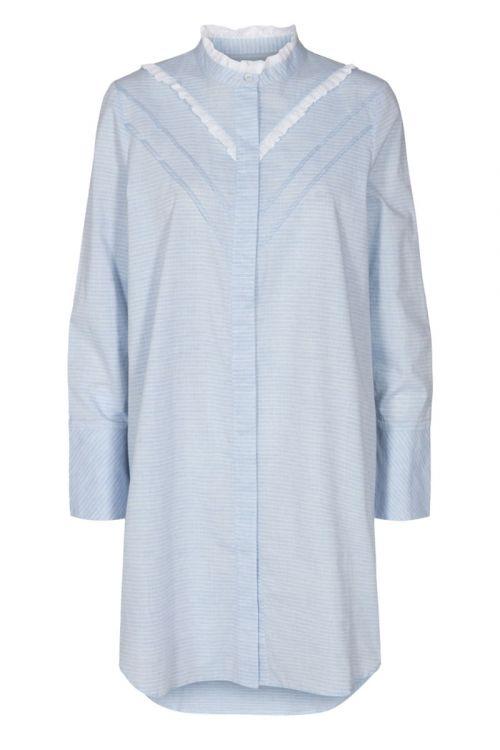 Nümph - Skjorte - Nucelie Long Shirt - Airy Blue