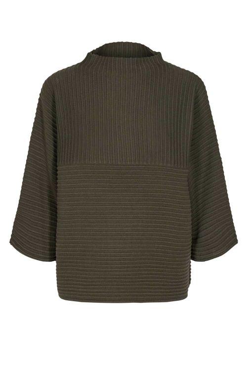Nümph Strik Irmelin O-neck Pullover Deep Depht Front